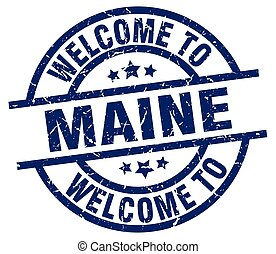 welcome to Maine blue stamp