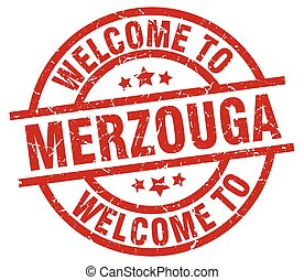 welcome to Merzouga red stamp