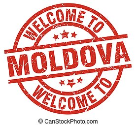 welcome to Moldova red stamp