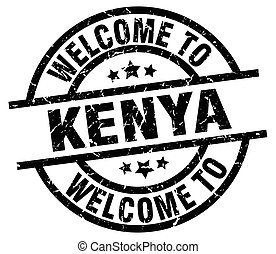 welcome to Kenya black stamp
