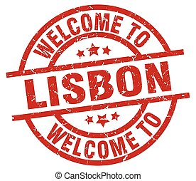 welcome to Lisbon red stamp