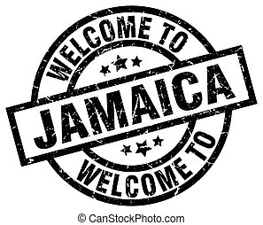 welcome to Jamaica black stamp