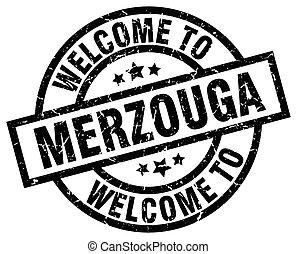 welcome to Merzouga black stamp