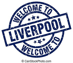 welcome to Liverpool blue stamp