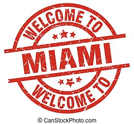 welcome to Miami red stamp
