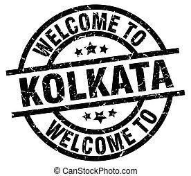 welcome to Kolkata black stamp