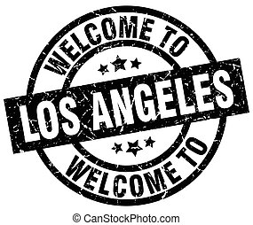 welcome to Los Angeles black stamp