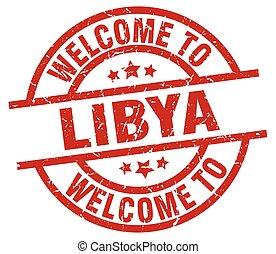 welcome to Libya red stamp