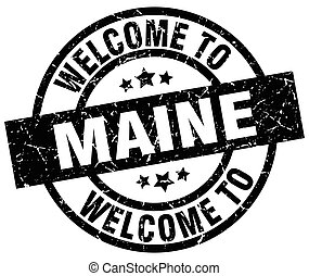 welcome to Maine black stamp