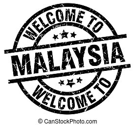 welcome to Malaysia black stamp