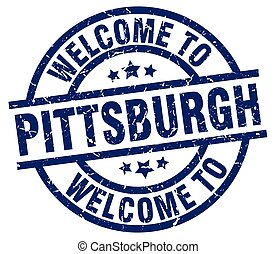 welcome to Pittsburgh blue stamp