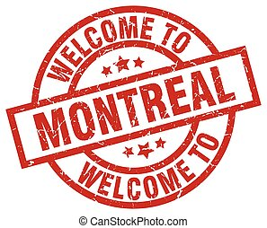welcome to Montreal red stamp