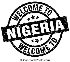 welcome to Nigeria black stamp