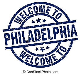 welcome to Philadelphia blue stamp