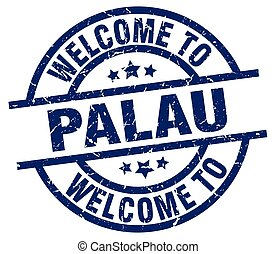 welcome to Palau blue stamp