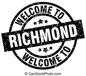 welcome to Richmond black stamp