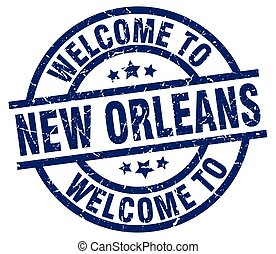 welcome to New Orleans blue stamp