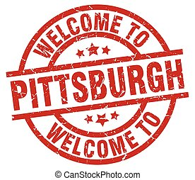 welcome to Pittsburgh red stamp