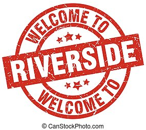 welcome to Riverside red stamp