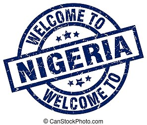welcome to Nigeria blue stamp
