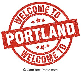 welcome to Portland red stamp