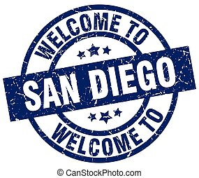 welcome to San Diego blue stamp