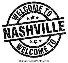 welcome to Nashville black stamp