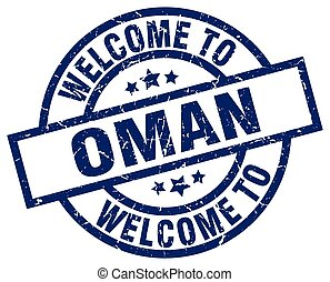 welcome to Oman blue stamp