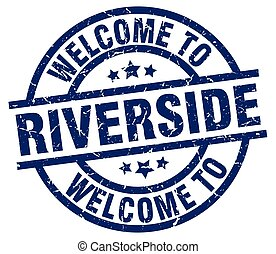 welcome to Riverside blue stamp