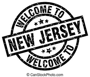 welcome to New Jersey black stamp