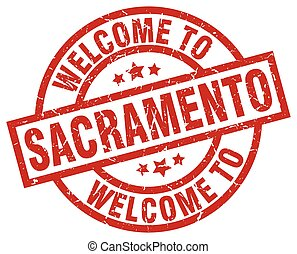welcome to Sacramento red stamp