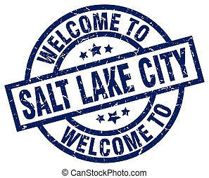 welcome to Salt Lake City blue stamp
