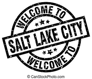 welcome to Salt Lake City black stamp