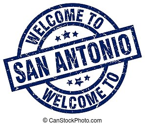 welcome to San Antonio blue stamp