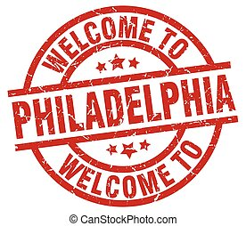 welcome to Philadelphia red stamp