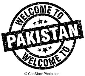 welcome to Pakistan black stamp