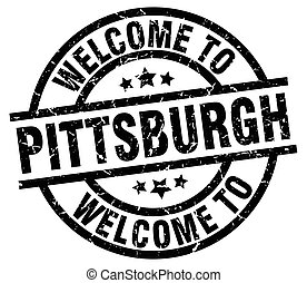 welcome to Pittsburgh black stamp