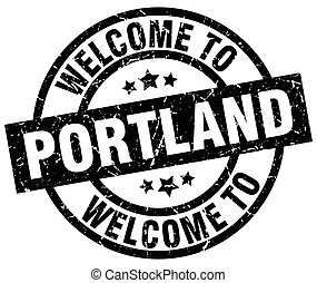 welcome to Portland black stamp