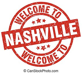 welcome to Nashville red stamp