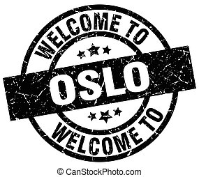 welcome to Oslo black stamp