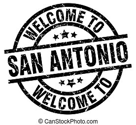 welcome to San Antonio black stamp