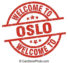 welcome to Oslo red stamp