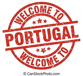 welcome to Portugal red stamp