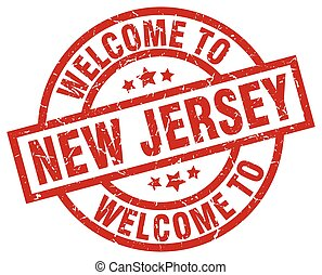 welcome to New Jersey red stamp