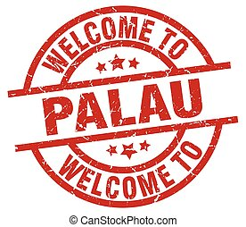 welcome to Palau red stamp