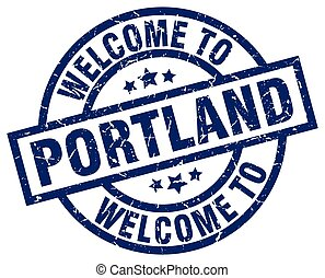 welcome to Portland blue stamp