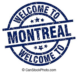 welcome to Montreal blue stamp