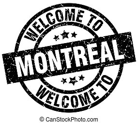 welcome to Montreal black stamp