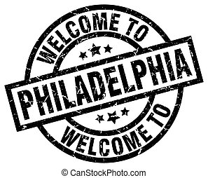 welcome to Philadelphia black stamp