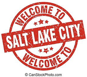 welcome to Salt Lake City red stamp